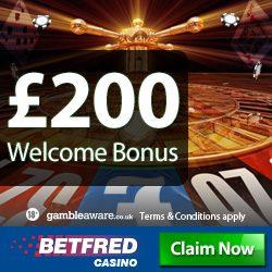 betfred casino bonus