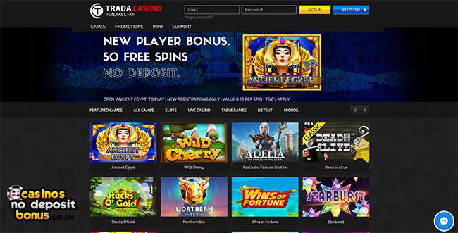 trada slots deposit bonus